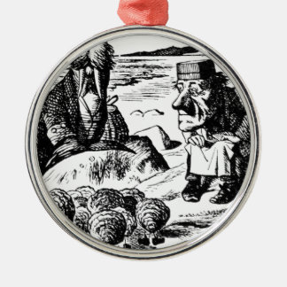 Walrus, Carpeter and Oysters Metal Ornament