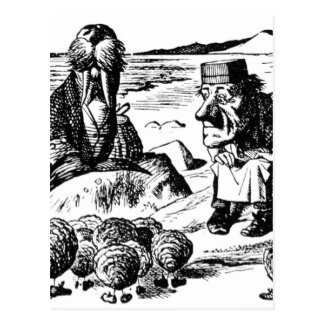 Walrus, Carpeter and Oysters Postcard