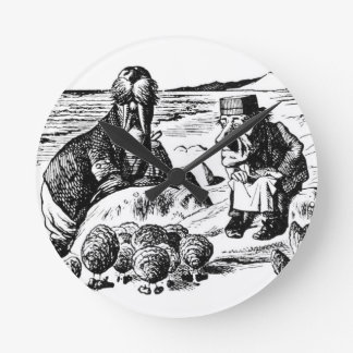 Walrus, Carpeter and Oysters Round Clock