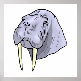 Walrus Head Poster