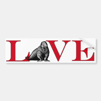 Walrus Lover Bumpersticker Bumper Sticker