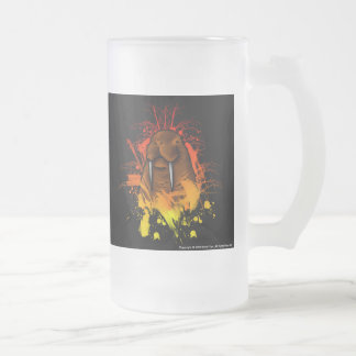 Walrus Frosted Glass Mug
