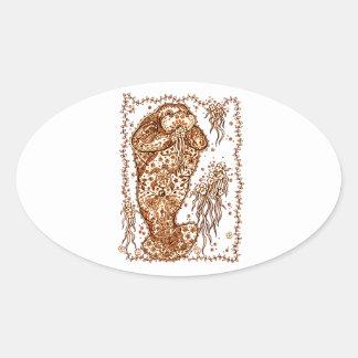 Walrus Oval Sticker