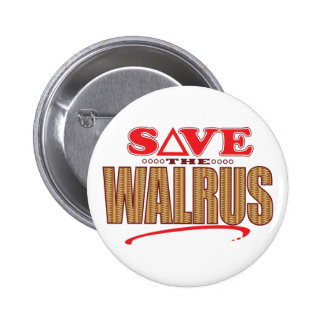 Walrus Save 2 Inch Round Button