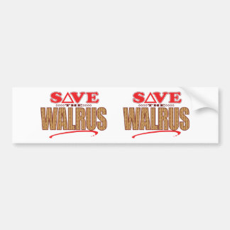Walrus Save Bumper Sticker