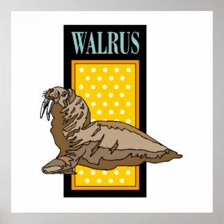 Walrus Sign Print