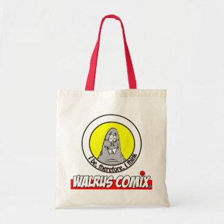 WALRUS TOTE BAG! BUDGET TOTE BAG