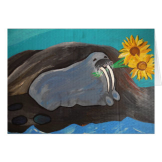 Walrus Valentine Greeting Card