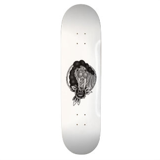 walrus with hair traditional rope frame skate deck