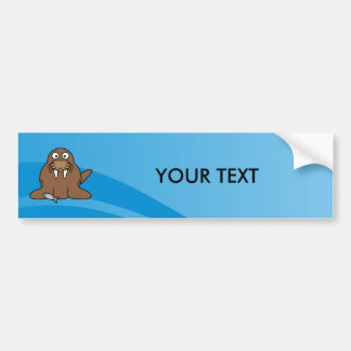 Walrus with Water Background Bumper Sticker