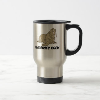 Walruses Rock Travel Mug