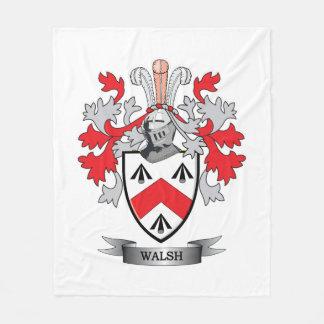 Walsh Coat of Arms Fleece Blanket