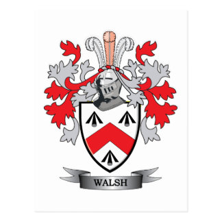 Walsh-Coat-of-Arms Postcard