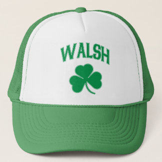 Walsh Irish Shamrock Trucker Hat
