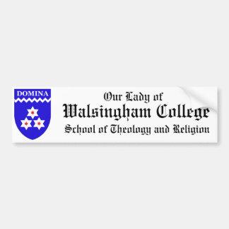 Walsingham College Seminary Bumper Sticker