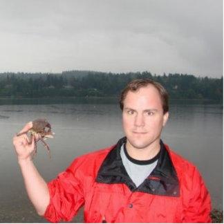 Walt and the crab photo sculpture ornament