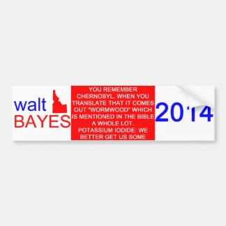 Walt Bayes Bumper Sticker