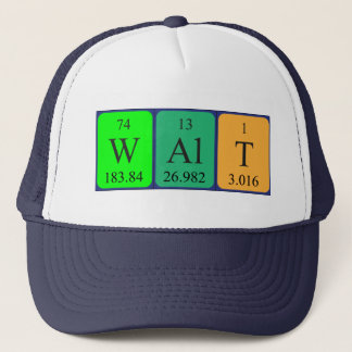 Walt periodic table name hat