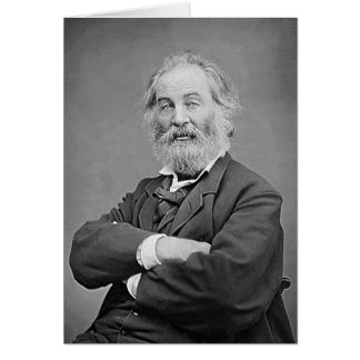 Walt Whitman Age 47 Seated Portrait Greeting Card
