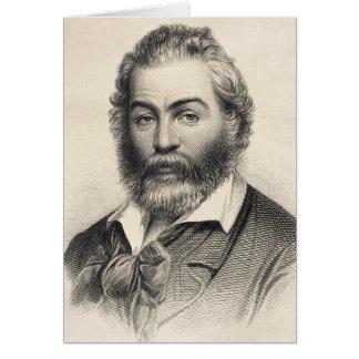 """Walt Whitman """"bonheur dans cet endroit, cette Carte De Correspondance"""