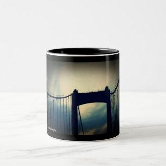 Walt Whitman Bridge Philadelphia PA Two-Tone Coffee Mug