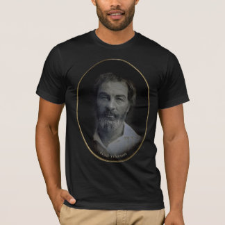 Walt Whitman Colorized Portrait, Age 35 T-Shirt
