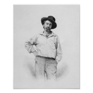 Walt Whitman, frontispiece to 'Leaves of Poster