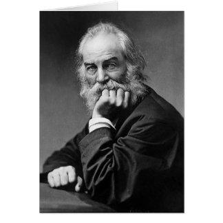 Walt Whitman in Washington D.C. Sepia Greeting Card