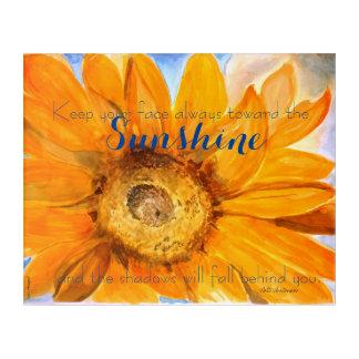 Walt Whitman Inspiration Sunflower Art Print