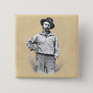 Walt Whitman Leaves of Grass 2 Inch Square Button