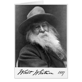 "Walt Whitman ""More Immortal Even Than the Stars"" Card"