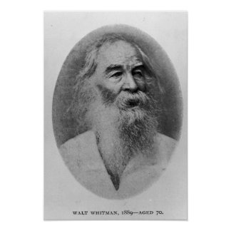 Walt Whitman, photographed in 1889 Poster