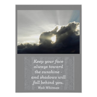 Walt Whitman quote - art print