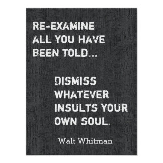 Walt Whitman Quote - Art print #2