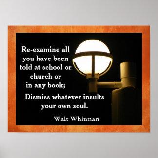 Walt Whitman - quote poster