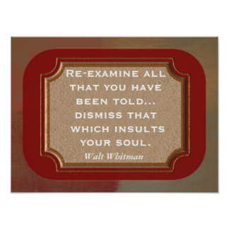 Walt Whitman --- quote-- print