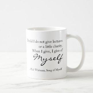 Walt Whitman Quote Song of Myself Mug
