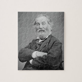 Walt Whitman Seated Portrait Photograph Age 47 Jigsaw Puzzle