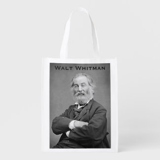 Walt Whitman Seated Portrait Photograph Age 47 Market Tote