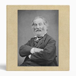 Walt Whitman Seated Portrait Photograph Age 47 Vinyl Binder