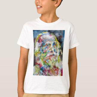 walt whitman - watercolor portrait T-Shirt