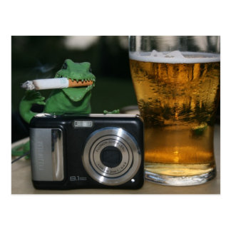 Walter: Beer, Cig, Camera Postcard