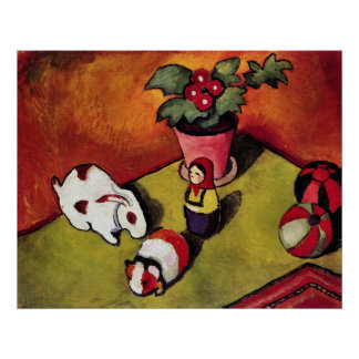 Walter Chen toys by August Macke Poster