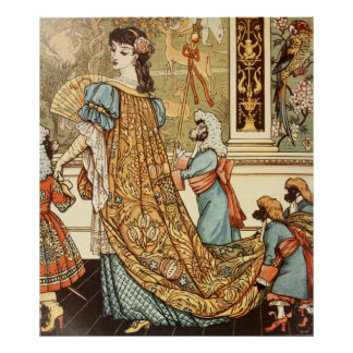Walter Crane, Beauty and the Beast, 1875 Poster