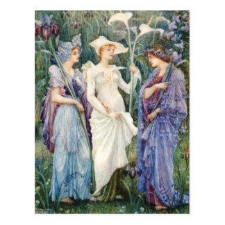 Walter Crane: Signs of Spring Postcard