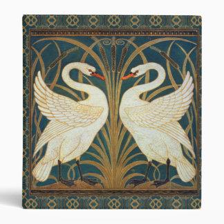 Walter Crane Swan, Rush And Iris Art Nouveau 3 Ring Binder