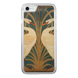 Walter Crane Swan, Rush And Iris Art Nouveau Carved iPhone 8/7 Case