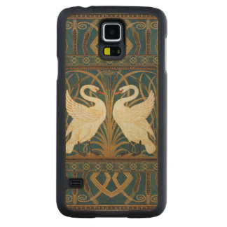Walter Crane Swan, Rush And Iris Art Nouveau Carved Maple Galaxy S5 Case