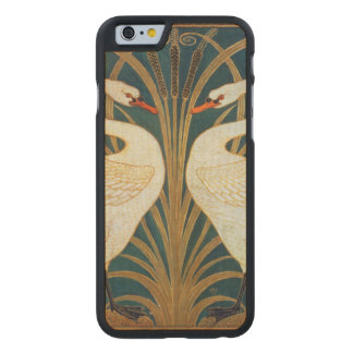 Walter Crane Swan, Rush And Iris Art Nouveau Carved Maple iPhone 6 Case