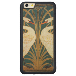 Walter Crane Swan, Rush And Iris Art Nouveau Carved Maple iPhone 6 Plus Bumper Case